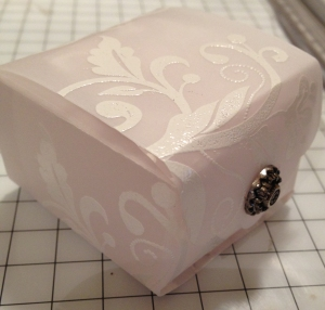 embossed vellum box